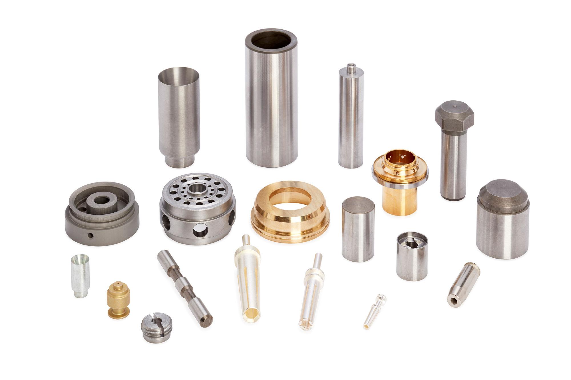Abbildungen verschiedener Bestandteile der Automobilindustrie